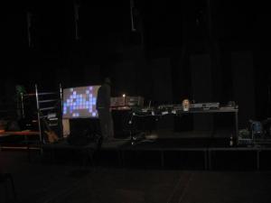 Stage mit Blinkenwall